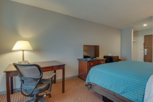 All rooms feature work desks with ergonomic chairs and WiFi