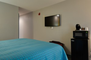 All rooms feature flat screen TVs